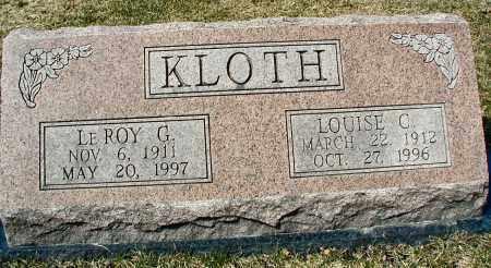 KLOTH, LE ROY G. - DuPage County, Illinois   LE ROY G. KLOTH - Illinois Gravestone Photos