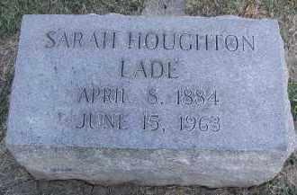 HOUGHTON LADE, SARAH - DuPage County, Illinois   SARAH HOUGHTON LADE - Illinois Gravestone Photos
