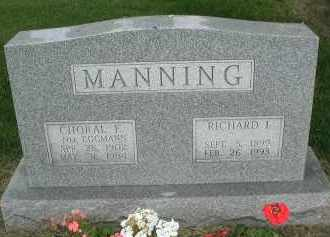 EGGMAN MANNING, CHORAL E. - DuPage County, Illinois | CHORAL E. EGGMAN MANNING - Illinois Gravestone Photos