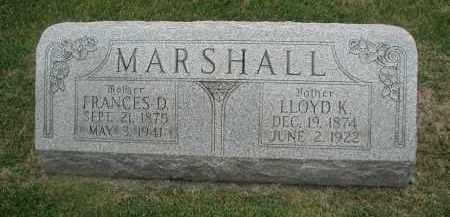 MARSHALL, FRANCES D. - DuPage County, Illinois   FRANCES D. MARSHALL - Illinois Gravestone Photos