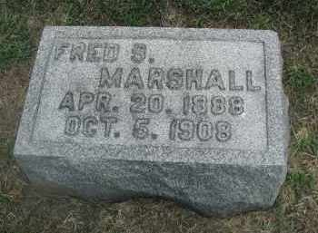 MARSHALL, FRED S. - DuPage County, Illinois | FRED S. MARSHALL - Illinois Gravestone Photos