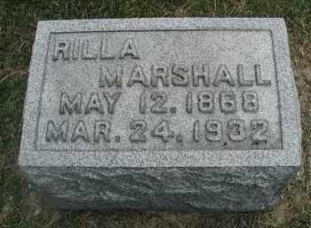 MARSHALL, RILLA - DuPage County, Illinois   RILLA MARSHALL - Illinois Gravestone Photos