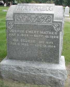 GEORGE MATHER, IDA - DuPage County, Illinois   IDA GEORGE MATHER - Illinois Gravestone Photos