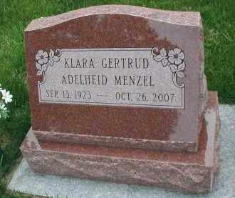 ADELHEID MENZEL, KLARA GERTRUD - DuPage County, Illinois | KLARA GERTRUD ADELHEID MENZEL - Illinois Gravestone Photos