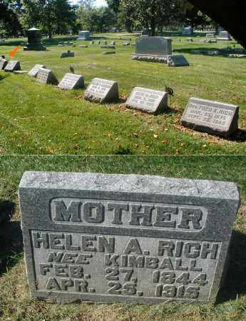 KIMBALL RICH, HELEN A. - DuPage County, Illinois | HELEN A. KIMBALL RICH - Illinois Gravestone Photos