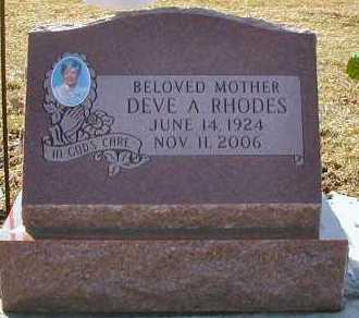 RHODES, DEVE A. - DuPage County, Illinois | DEVE A. RHODES - Illinois Gravestone Photos