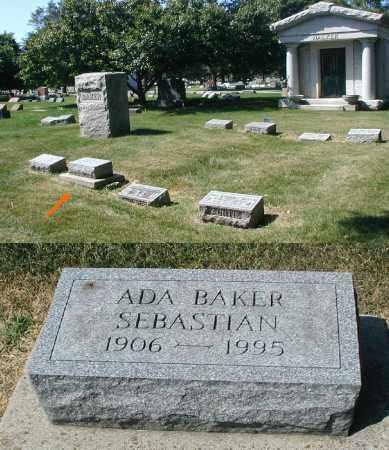 BAKER SEBASTIAN, ADA - DuPage County, Illinois | ADA BAKER SEBASTIAN - Illinois Gravestone Photos