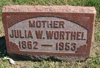 WORTHEL, JULIA W. - DuPage County, Illinois   JULIA W. WORTHEL - Illinois Gravestone Photos