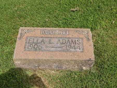 ADAMS, ELLA L - Franklin County, Illinois | ELLA L ADAMS - Illinois Gravestone Photos