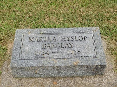 HYSLOP BARCLAY, MARTHA - Franklin County, Illinois | MARTHA HYSLOP BARCLAY - Illinois Gravestone Photos