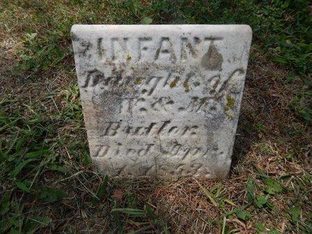 BUTLER, INFANT - Franklin County, Illinois | INFANT BUTLER - Illinois Gravestone Photos