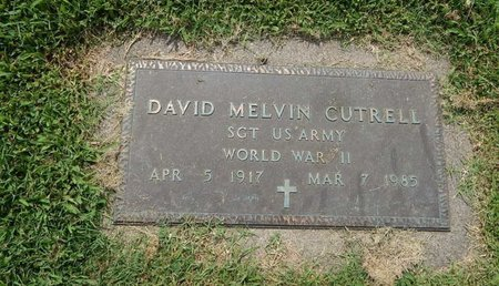 CUTRELL (VETERAN WWII), DAVID MELVIN - Franklin County, Illinois | DAVID MELVIN CUTRELL (VETERAN WWII) - Illinois Gravestone Photos