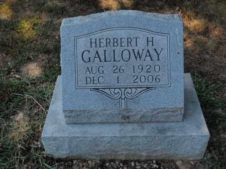 GALLOWAY, HERBERT H - Franklin County, Illinois   HERBERT H GALLOWAY - Illinois Gravestone Photos
