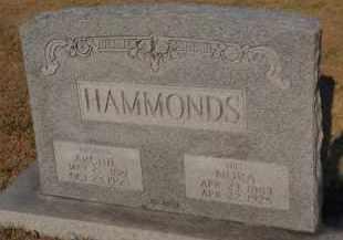 HAMMONDS, NORA - Franklin County, Illinois | NORA HAMMONDS - Illinois Gravestone Photos