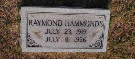 HAMMONDS, RAYMOND - Franklin County, Illinois   RAYMOND HAMMONDS - Illinois Gravestone Photos