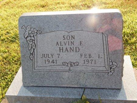 HAND, ALVIN E - Franklin County, Illinois | ALVIN E HAND - Illinois Gravestone Photos