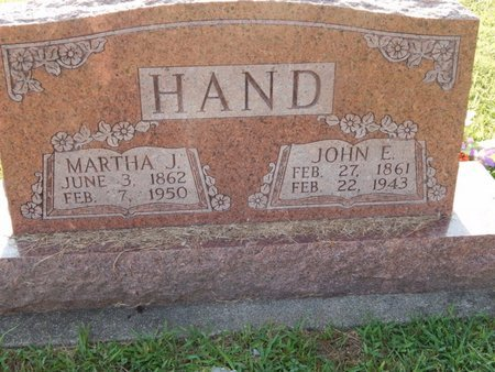 HAND, JOHN EDWARD - Franklin County, Illinois | JOHN EDWARD HAND - Illinois Gravestone Photos