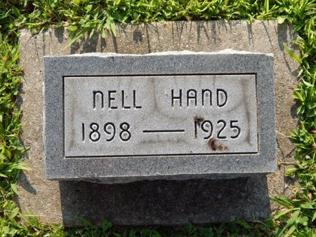 HAND, NELL - Franklin County, Illinois | NELL HAND - Illinois Gravestone Photos