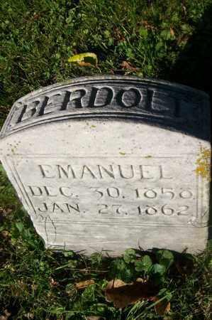 BERDOLT, EMANUEL - Hancock County, Illinois | EMANUEL BERDOLT - Illinois Gravestone Photos