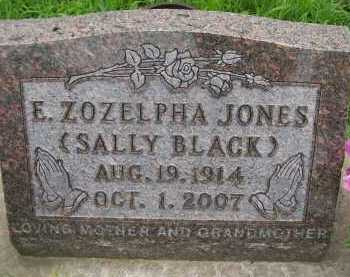 JONES BLACK, E. ZOZELPHA(SALLY) - Hancock County, Illinois | E. ZOZELPHA(SALLY) JONES BLACK - Illinois Gravestone Photos