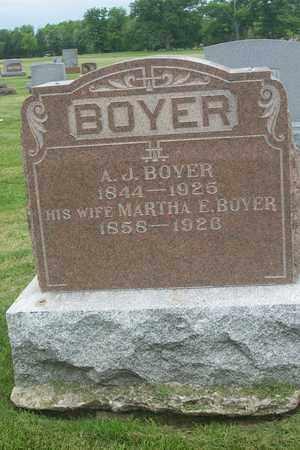 BOYER, ANDREW JACKSON - Hancock County, Illinois | ANDREW JACKSON BOYER - Illinois Gravestone Photos