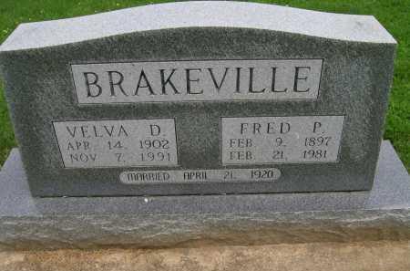 BRAKEVILLE, VELVA D. - Hancock County, Illinois | VELVA D. BRAKEVILLE - Illinois Gravestone Photos