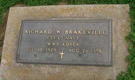 BRAKEVILLE, RICHARD W. - Hancock County, Illinois | RICHARD W. BRAKEVILLE - Illinois Gravestone Photos