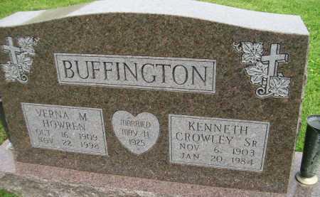 HOWREN BUFFINGTON, VERNA M. - Hancock County, Illinois | VERNA M. HOWREN BUFFINGTON - Illinois Gravestone Photos
