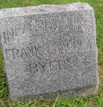 BYERS, INFANT TWINS - Hancock County, Illinois | INFANT TWINS BYERS - Illinois Gravestone Photos