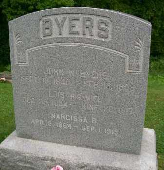 BYERS, NARCISSA B. - Hancock County, Illinois | NARCISSA B. BYERS - Illinois Gravestone Photos