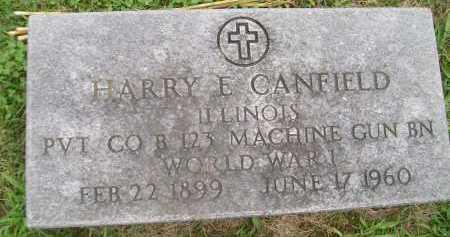 CANFIELD, HARRY E. - Hancock County, Illinois | HARRY E. CANFIELD - Illinois Gravestone Photos