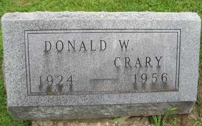 CRARY, DONALD W. - Hancock County, Illinois | DONALD W. CRARY - Illinois Gravestone Photos