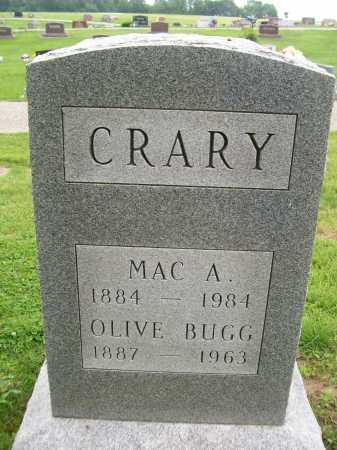 BUGG CRARY, OLIVE - Hancock County, Illinois | OLIVE BUGG CRARY - Illinois Gravestone Photos