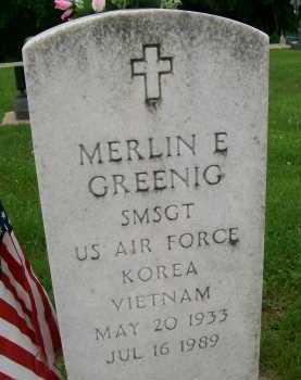 GREENIG, MERLIN E. - Hancock County, Illinois | MERLIN E. GREENIG - Illinois Gravestone Photos