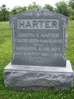 HARTER, JOSEPH VALENTINE - Hancock County, Illinois | JOSEPH VALENTINE HARTER - Illinois Gravestone Photos