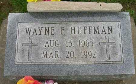 HUFFMAN, WAYNE F. - Hancock County, Illinois   WAYNE F. HUFFMAN - Illinois Gravestone Photos