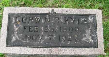KYLE, CORWIN R. - Hancock County, Illinois   CORWIN R. KYLE - Illinois Gravestone Photos