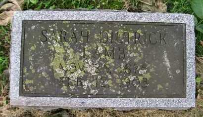 LAMB, SARAH - Hancock County, Illinois | SARAH LAMB - Illinois Gravestone Photos