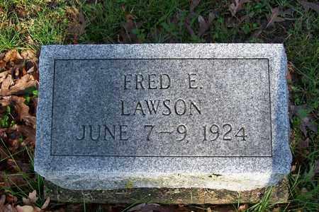 LAWSON, FRED E. - Hancock County, Illinois | FRED E. LAWSON - Illinois Gravestone Photos