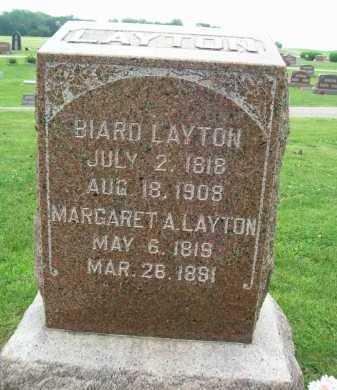 LAYTON, MARGARET A. - Hancock County, Illinois | MARGARET A. LAYTON - Illinois Gravestone Photos