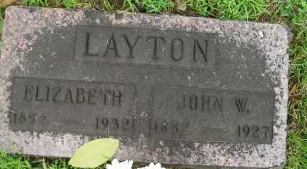 LAYTON, ELIZABETH - Hancock County, Illinois | ELIZABETH LAYTON - Illinois Gravestone Photos