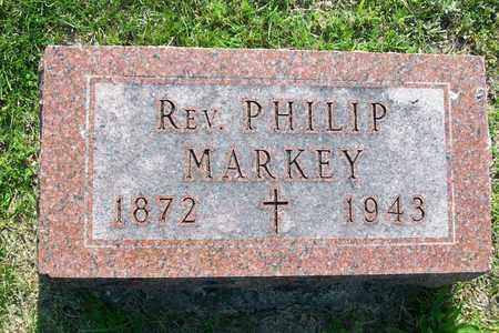 MARKEY, REV. PHILIP - Hancock County, Illinois | REV. PHILIP MARKEY - Illinois Gravestone Photos