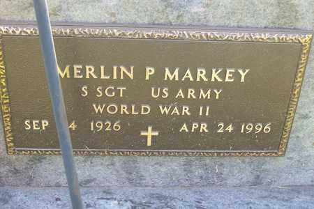 MARKEY, SGT MERLIN - Hancock County, Illinois   SGT MERLIN MARKEY - Illinois Gravestone Photos