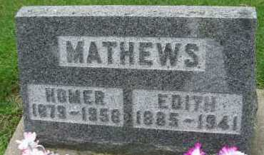 MATHEWS, EDITH - Hancock County, Illinois   EDITH MATHEWS - Illinois Gravestone Photos