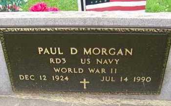 MORGAN, PAUL D. - Hancock County, Illinois | PAUL D. MORGAN - Illinois Gravestone Photos