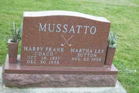 MUSSATTO, HARRY FRANK - Hancock County, Illinois | HARRY FRANK MUSSATTO - Illinois Gravestone Photos