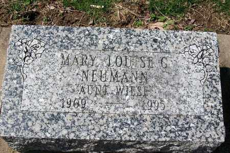 NEUMANN, MARY LOUISE - Hancock County, Illinois | MARY LOUISE NEUMANN - Illinois Gravestone Photos