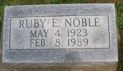 NOBLE, RUBY E. - Hancock County, Illinois | RUBY E. NOBLE - Illinois Gravestone Photos
