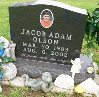 OLSON, JACOB ADAM - Hancock County, Illinois   JACOB ADAM OLSON - Illinois Gravestone Photos