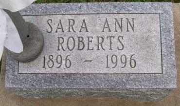 ROBERTS, SARAH ANN - Hancock County, Illinois | SARAH ANN ROBERTS - Illinois Gravestone Photos